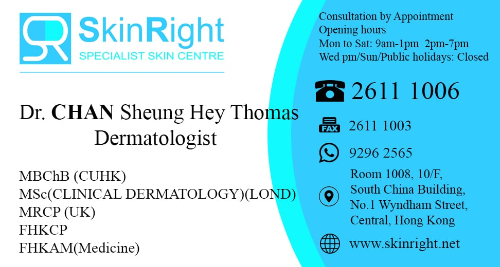 Dr. Chan Sheung Hey Thomas, skin doctor, dermatologist